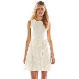 Lauren Conrad Eyelet Dress with Back Detail